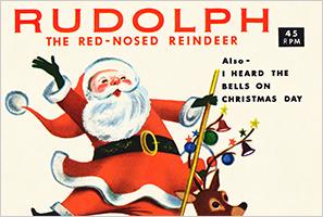 サンタのオシャレなイラストが可愛いクリスマス無料素材
