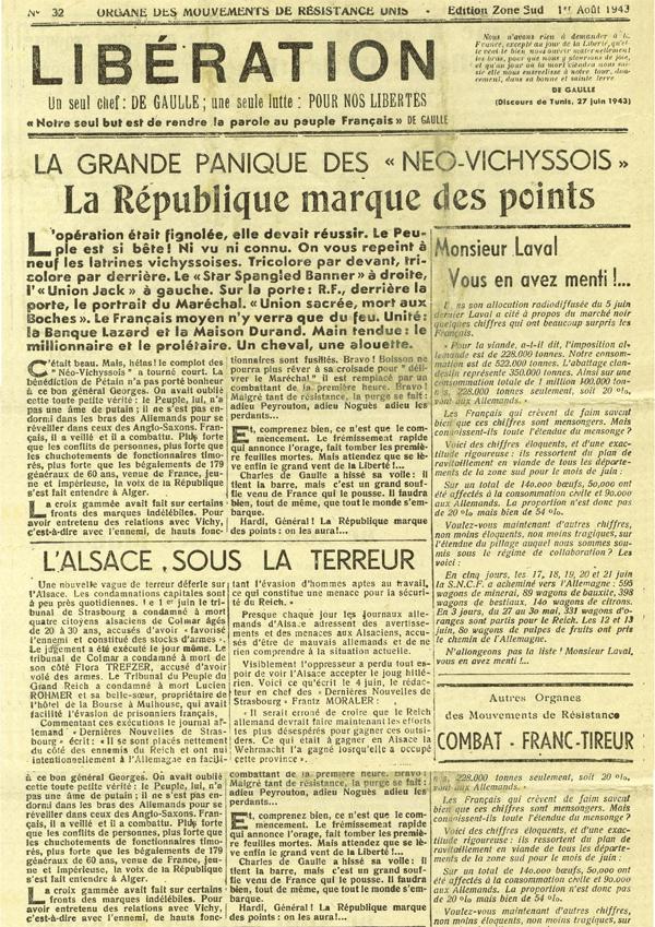 古い英字新聞(フランス)の無料素...